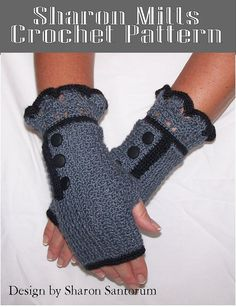 Romantic Crochet Fingerless Gloves Pattern
