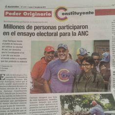 """Pinocho y su hermana la """"alcaparra verde"""" cayéndole a cuentos a la gente..NI UNA SOLA FOTO REAL de las """"mega colas"""" para votar ayer por la Prostituyente"""