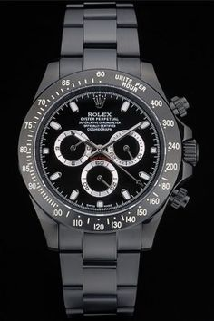 Rolex Daytona Black Ion Plated Black Stainless Steel Strap Black Dial with Box Stylish Watches, Luxury Watches, Rolex Watches, Top Watches For Men, Fine Watches, Amazing Watches, Cool Watches, Rolex Daytona Watch, Bling Bling