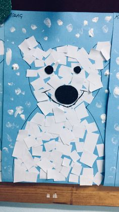 Searching for a fun kids activity to do this winter? This handprint polar bear is it. It's great for preschool kids and comes with a free printable template. Kindergarten Crafts, Classroom Crafts, Preschool Activities, Winter Activities, Toddler Activities, January Crafts, Polar Animals, Winter Art Projects, Holiday Crafts For Kids