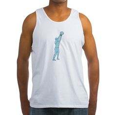 Athlete Fitness Kettlebell Swing Drawing Tank Top