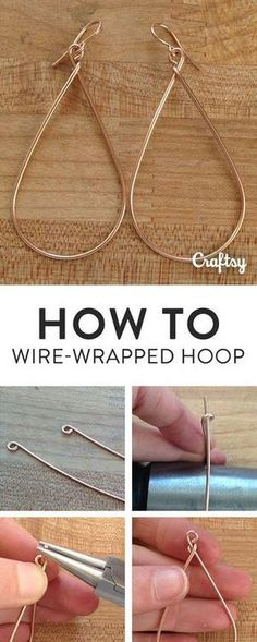 DIY Bijoux How to make classic hoop earrings that will never go out of style: FREE jewelry