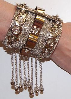"Scharnier Armband  ZILVER kleurig  "" Silver Princess  "" - one size - Hinge…"