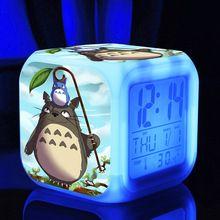 Figura de acción de juguete niños reloj despertador Totoro Anime japonés Catoon…