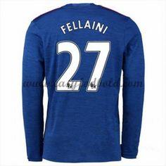 Fodboldtrøjer Premier League Manchester United 2016-17 Fellaini 27 Udebanetrøje Langærmede