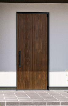 人気の木目柄やアルミカラーでエントランスを美しくコーディネイトできる機能的な玄関ドア。新世代ドアキーシステム「スマートコントロールキー」 を標準装備しています。