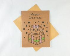 Check out this item in my Etsy shop https://www.etsy.com/listing/256699113/kitty-christmas-christmas-card-funny
