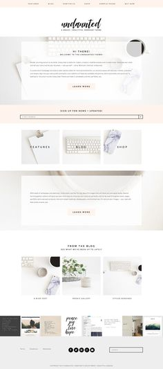 Feminine Wordpress Themes from Brave + Beautiful Designs. Gorgeous themes that are ideal for photographers, entrepreneurs, makers, curators, boutiques, bloggers and creatives of every type. The Undaunted Wordpress Theme is set up for a full-powered site, a blog, a shop, a portfolio, or all of them in one! Built on the Genesis Framework, Undaunted is mobile responsive, completely customizable, and oh-so-lovely.