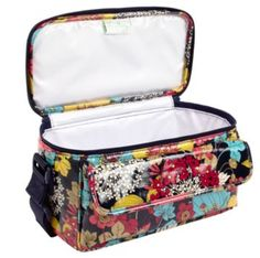 Vera Bradley Cooler!  This is what we use for our 5 year old's lunch box, she loves it and has a Hello Kitty Charm that hangs off of it.  Super Easy to wipe down!