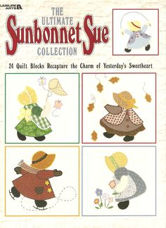 Sunbonnet Sue Quilt Designs   Ultimate Sunbonnet Sue Quilting Pattern Book - 24 Designs - Petes