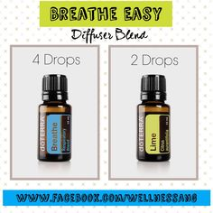 One of my favorite diffuser blends for productive respiratory health. Essential Oil Blends, Essential Oil Diffuser, Essential Oils, Flu Remedies, Natural Remedies, Doterra Breathe, Pollen Allergies, Diffuser Blends, Wellness