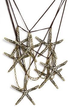 Sequin 'Anita' Starfish Statement Necklace