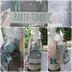 Liebes Papier...: Flaschenanhänger mit Box...