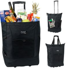 Einkaufstrolley PUNTA WHEEL Trolley Tasche Einkaufsroller Korb - Schwarz