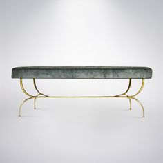 View this item and discover similar for sale at - An elegant bench manufactured in Italy circa Brass legs have been newly hand polished. Cool Furniture, Furniture Design, End Of Bed Bench, Hallway Bench, Modern Bench, Living Room Seating, Daybed, Beautiful Interiors, Adele