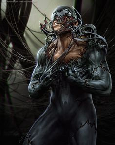 It will only make the symbiote transition even worse! If you haven't seen the artwork of Randis Albion yet, you need to check out his gallery. Venom vs Peter by. Venom Comics, Marvel Venom, Marvel Comics Art, Marvel Vs, Marvel Heroes, Marvel Villains, Comic Book Characters, Comic Character, Comic Books Art