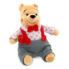Disney Winnie the Pooh Plush - Valentine's Day - Medium - 11''