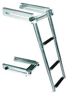 JIF - FGB3 ~ LOCKING SIDE MOUNT TELESCOPING LADDER STAINLESS 316 [FGB3] - $160.77 : Boat Ladders - Pontoon Boat Ladder - Dock Ladders for Less, Boat-Ladders-Store.com