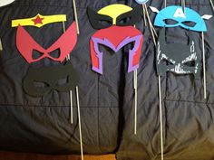 Superhero Photobooth Props DIY