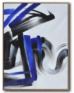 Blue Minimal Art #XB116B #acrylic-painting #Artists_Biao-Zheng #Biao-Zheng