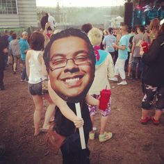 Nenshi on a stick? What next? Photo by bmjetienne What Next, Quotations, Carnival, Random, Face, Carnavals, The Face, Quotes, Faces