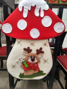- Her Crochet Christmas Chair, Christmas Stocking Kits, Felt Christmas Stockings, Christmas Wall Hangings, Christmas Fabric, Simple Christmas, Christmas Wreaths, Christmas Crafts, Christmas Decorations