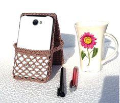 0900e36d137b Crochet phone holder for desk is nice Valentine s Day Gift