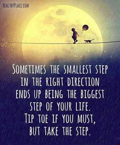 'Tip toe if you must' ❤️ Take each day step by step lovelies Xx