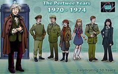 The Third Doctor and his Companions - Alistair, John, Liz, Jo, Yates, & Sarah Jane!