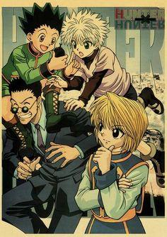 Hunter x Hunter Retro Posters - 42X30 CM / Q013 25