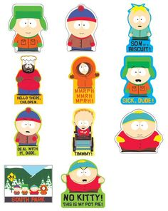 South Park Vending Stickers Refill 300ct