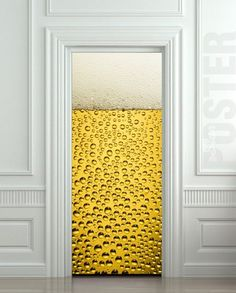 "Door STICKER bear glass porcelain cup goblet mural decole film self-adhesive poster 30x79""(77x200 cm) / | pulaton - Prin"