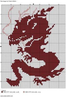 Dragon free cross stitch pattern   Yiotas XStitch