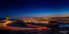 Signal Hill Light Trail by Michael Kennedy Signal Hill, Light Trails, Newfoundland, Newfoundland Dogs