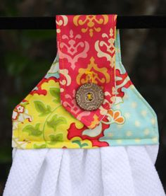 Hanging Kitchen Towels by GurleyGirlBoutique on Etsy, $20.00