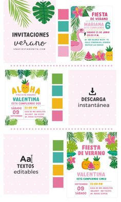 ideas para invitaciones verano tropical #verano #summer #partyideas #invitaciones #invitation #aloha Baby Shower Favors, Baby Shower Themes, Fruit Party, Colourful Balloons, Flamingo Party, Tropical Party, Diy Centerpieces, Summer Parties, Birthday