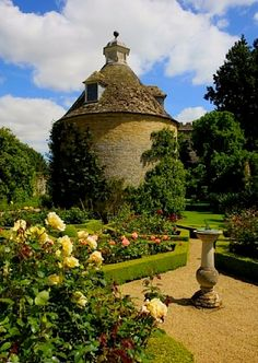 The Dovecote in the Pigeon House Garden at Rousham House Park. Bicester, Oxfordshire, England. The landscape is the work of William Kent (1685-1748). Rousham represents the first phase of English landscape design and remains almost as Kent left it. It is one of the few gardens of this date to have escaped alteration.