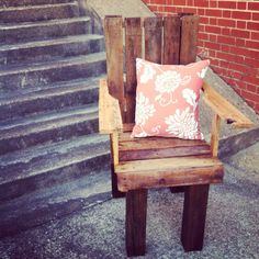Our Pallet chair... All you need is two pallets of wood! This was really fun to make also very sturdy and comfortable!