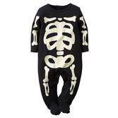 A classic for baby's first Halloween, these skeleton bones glow head to toe for a fun-filled night!<br>