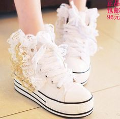 very cute wedding sneaker... for the dance floor :)