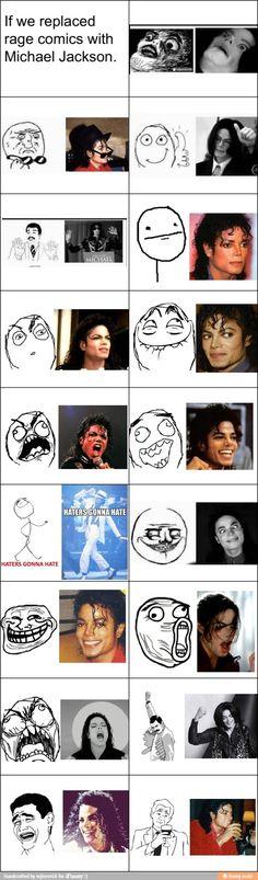 Michael Jackson rage faces