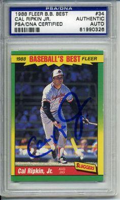 CAL-RIPKEN-JR-SIGNED-1988-Baseballs-Best-AUTOGRAPHED-PSA-DNA-81990326 #calripkenjr #ripken #signedcard #autograph #1988 #best