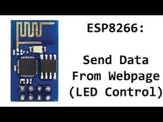 ESP8266 Arduino LED Control – Control Digital Pins From Webpage
