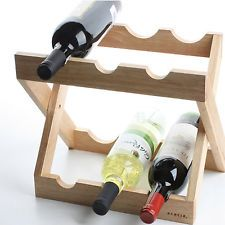 6 Botella Árbol de Caucho De Madera Botellero Plegable Tipo Botellas Inclinadas de almacenamiento Titular Wine Glass Rack, Wood Wine Racks, Stackable Wine Racks, Glow Table, Diy Bar, Wine Bottle Holders, Rack Shelf, Wine And Beer, Wine Storage