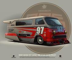10 carros Soviéticos customizados por Andrey Tkachenko