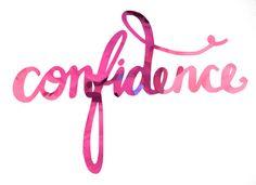 confidence watercolor tag