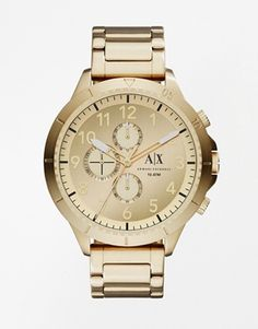 Armani Exchange Watch In Gold AX1752