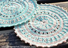 Brilliant Photo of Crochet Mandala Pattern Crochet Mandala Pattern North Sea Mandala Free Pattern Lillabjrns Crochet World Crochet Mandala Pattern, Crochet Circles, Crochet Stitches Patterns, Crochet Squares, Knitting Patterns, Crochet World, Crochet Home, Crochet Placemats, Crochet Doilies
