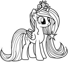 Horse Coloring Pages, Unicorn Coloring Pages, Colouring Pages, Coloring Books, My Little Pony Coloring, My Little Pony Drawing, Coloring For Kids, Disney Princess Coloring Pages, Disney Princess Colors