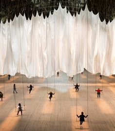 Ann Hamilton's 'the event of a thread' at Park Avenue Armory is a participatory installation with...